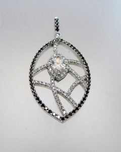 Black and White Diamond Pendant 240x300 Custom Design Services