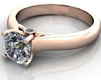pink gold solitaire Top Trends in Bridal Jewellery
