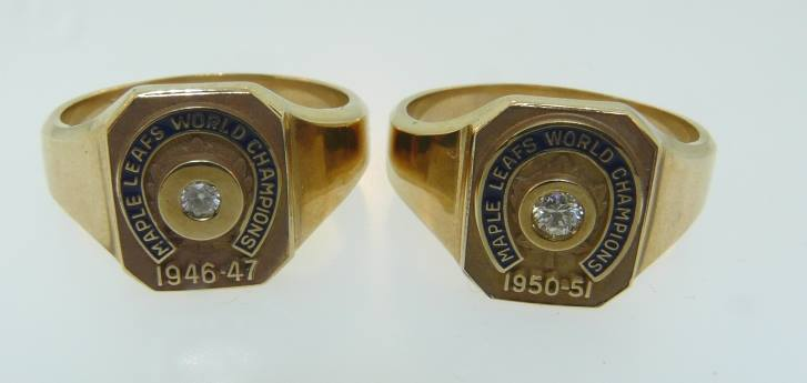 Toronto Maple Leaf Stanley Cup Ring Set